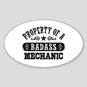 Property of a Badass Mechanic Sticker (Oval)