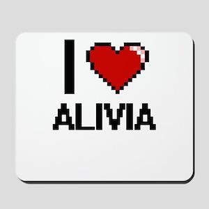 I Love Alivia Digital Retro Design Mousepad