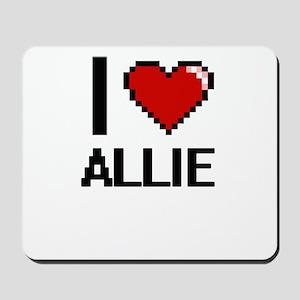 I Love Allie Digital Retro Design Mousepad