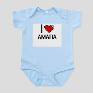 I Love Amara Digital Retro Design Body Suit