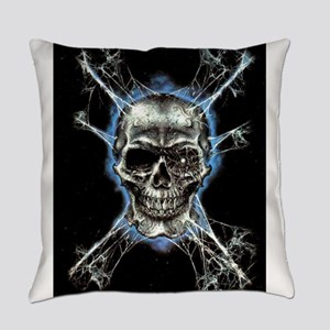 Electric Skull and Crossbones Everyday Pillow