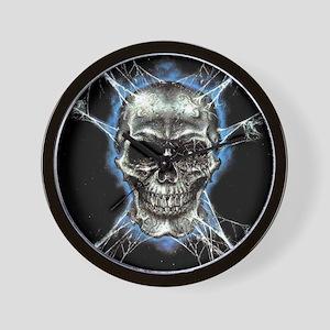 Electric Skull and Crossbones Wall Clock