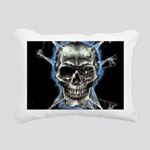 Electric Skull and Crossbones Rectangular Canvas P
