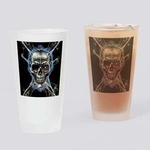 Electric Skull and Crossbones Drinking Glass