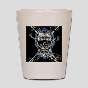 Electric Skull and Crossbones Shot Glass