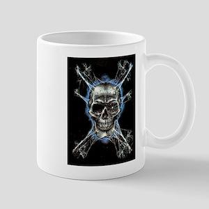 Electric Skull and Crossbones Mugs