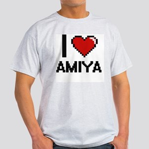 I Love Amiya Digital Retro Design T-Shirt