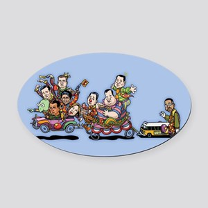 Clown Car 5-15b Oval Car Magnet