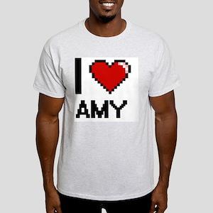 I Love Amy Digital Retro Design T-Shirt