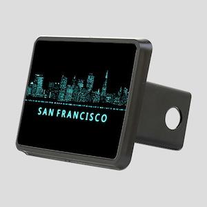 Digital Cityscape: San Fra Rectangular Hitch Cover