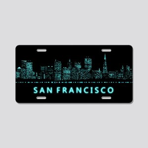 Digital Cityscape: San Fran Aluminum License Plate