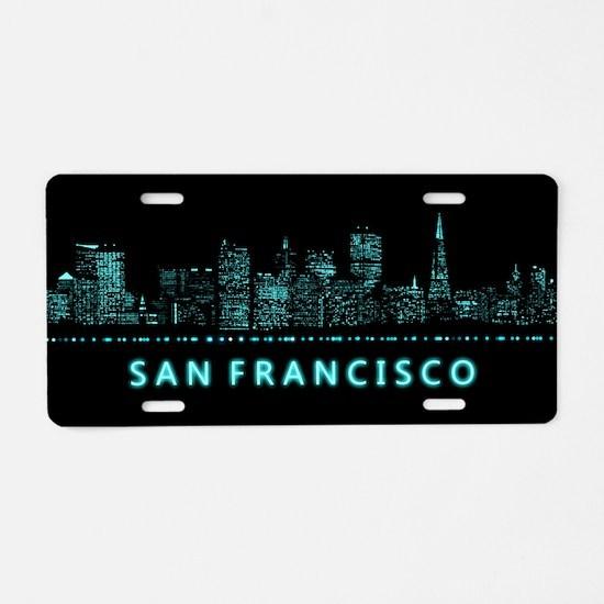 Digital Cityscape: San Fran Aluminum License Plate