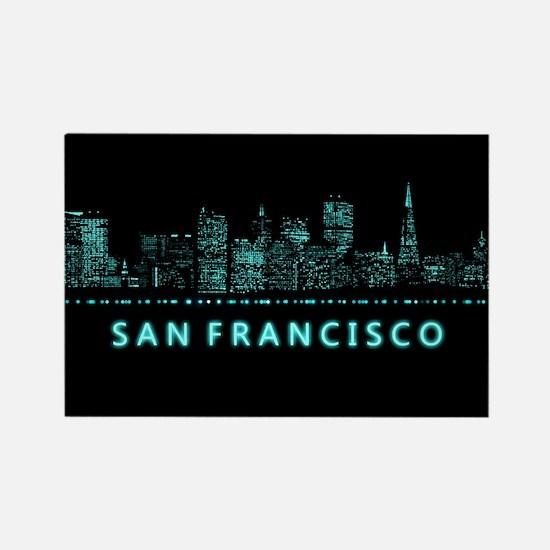 Digital Cityscape: San Rectangle Magnet (10 pack)