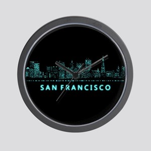 Digital Cityscape: San Francisco, Calif Wall Clock