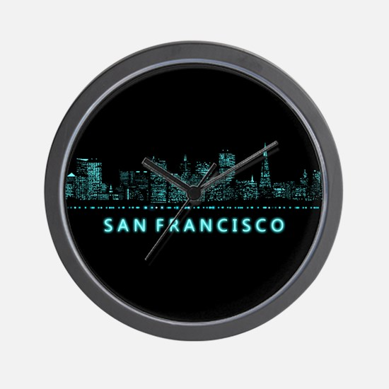 Digital Cityscape: San Francisco, Calif Wall Clock