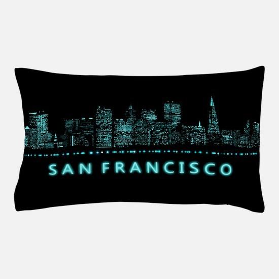 Digital Cityscape: San Francisco, Cali Pillow Case