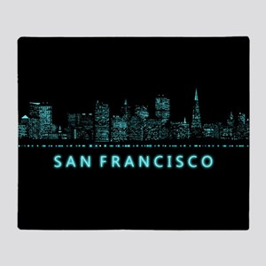 Digital Cityscape: San Francisco, Ca Throw Blanket