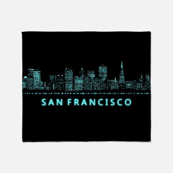 Digital Cityscape: San Francisco, Ca Throw Blanket