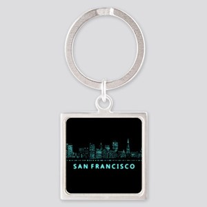Digital Cityscape: San Francisco, Square Keychain