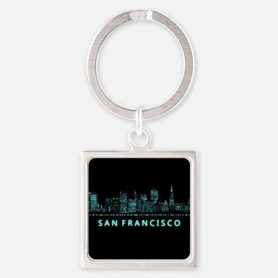 Digital Cityscape: San Francisco, Square Keychain