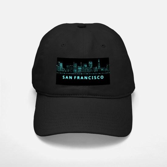 Digital Cityscape: San Francisco, Califo Baseball Hat