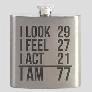 I Am 77 Flask
