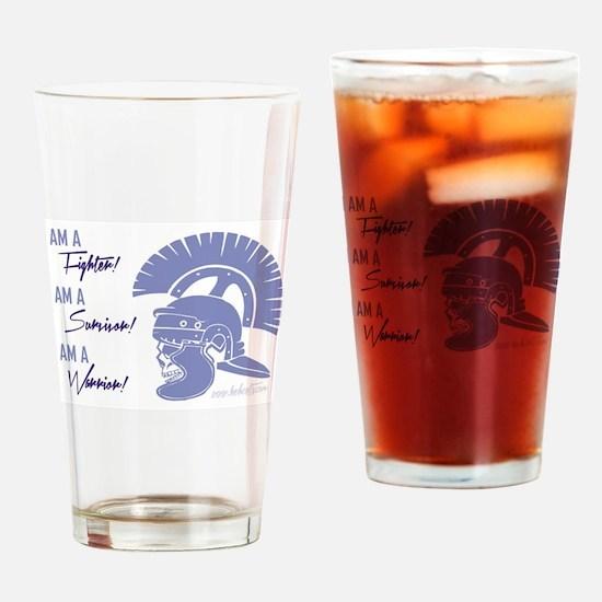 I AM A WARRIOR! Drinking Glass