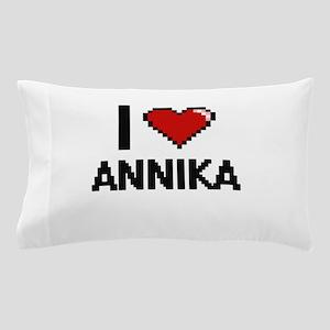 I Love Annika Digital Retro Design Pillow Case