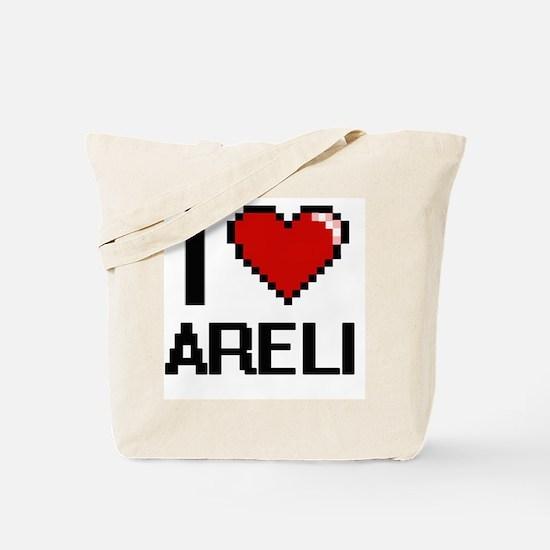 I Love Areli Digital Retro Design Tote Bag