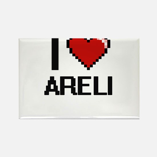 I Love Areli Digital Retro Design Magnets