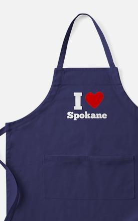 I Heart Spokane Apron (dark)