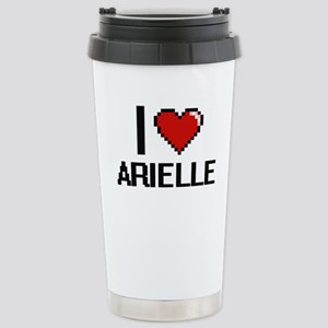 I Love Arielle Digital Stainless Steel Travel Mug