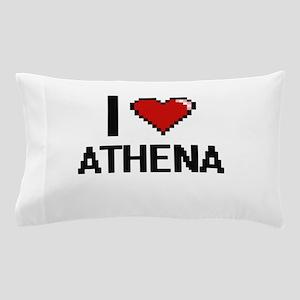 I Love Athena Digital Retro Design Pillow Case