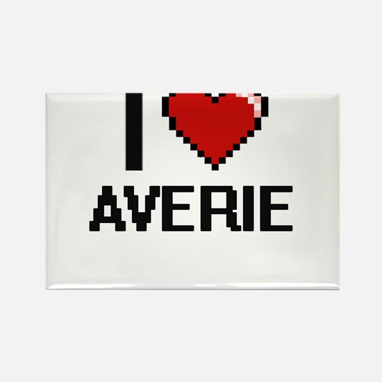 I Love Averie Digital Retro Design Magnets