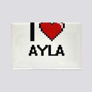 I Love Ayla Digital Retro Design Magnets