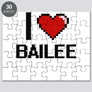 I Love Bailee Digital Retro Design Puzzle