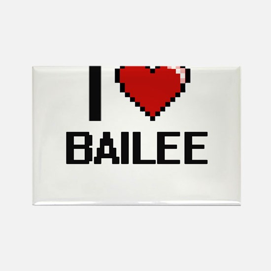 I Love Bailee Digital Retro Design Magnets