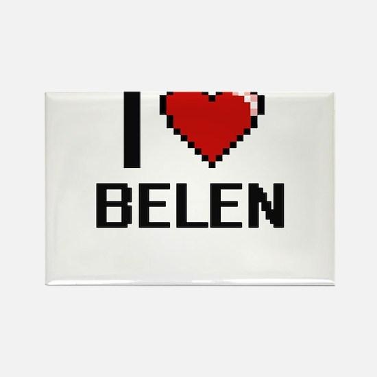 I Love Belen Digital Retro Design Magnets