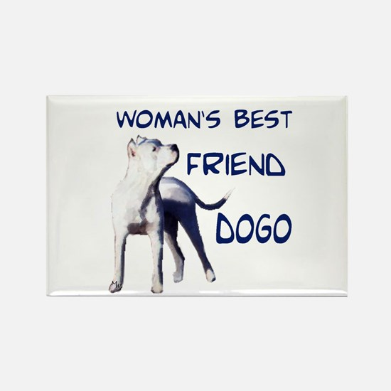 Cute Argentine dogo Rectangle Magnet