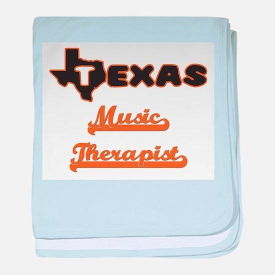 Texas Music Therapist baby blanket