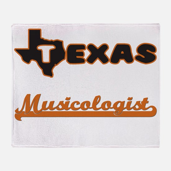 Texas Musicologist Throw Blanket