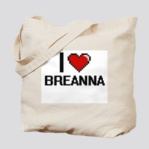 I Love Breanna Digital Retro Design Tote Bag