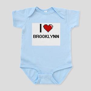 I Love Brooklynn Digital Retro Design Body Suit