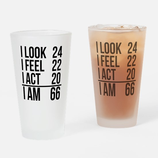 I Am 66 Drinking Glass