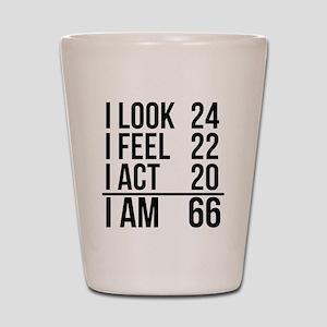 I Am 66 Shot Glass
