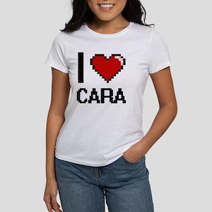 I Love Cara Digital Retro Design T-Shirt