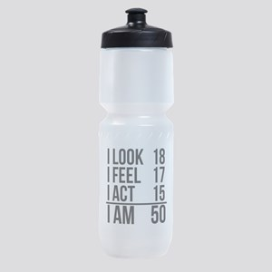 I Am 50 Sports Bottle