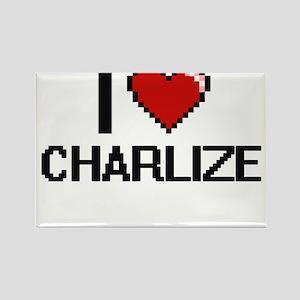I Love Charlize Digital Retro Design Magnets