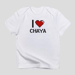 I Love Chaya Digital Retro Design Infant T-Shirt