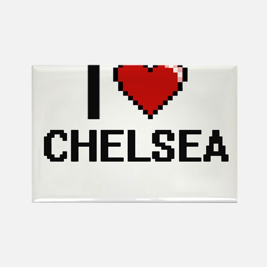 I Love Chelsea Digital Retro Design Magnets